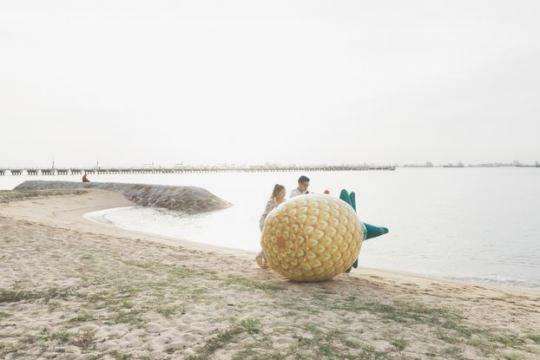 Про новій заправці в Сінгапурі повідомили з допомогою гігантського ананаса c1cd06c9750cd14290cafc82455d2566
